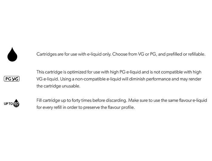 Vapour2 Pro Series 3 Ceramic PG e liquid cartridge description