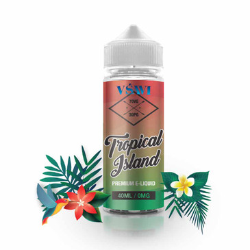 VSAVI Tropical Island Shortfill E-Liquid 0mg (40ml)