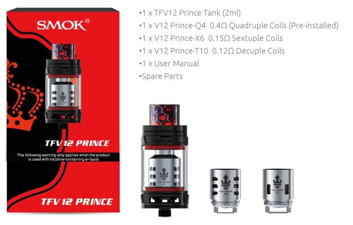 Smok Prince. UK and EU Edition Kit Contents