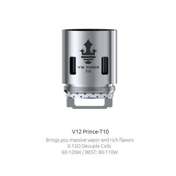 Smok Prince TFV12 Replacement coil. 3 Pack
