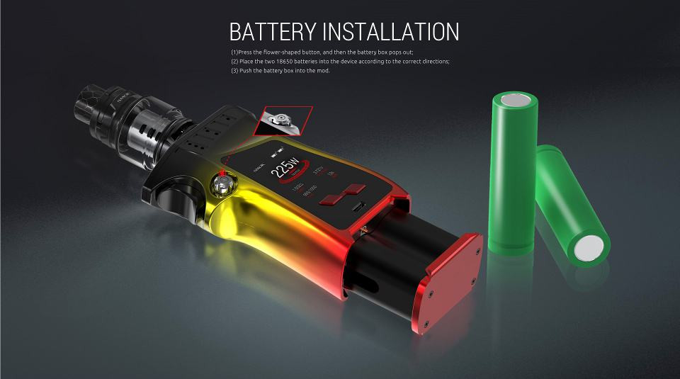 Smok Mag battery install guide