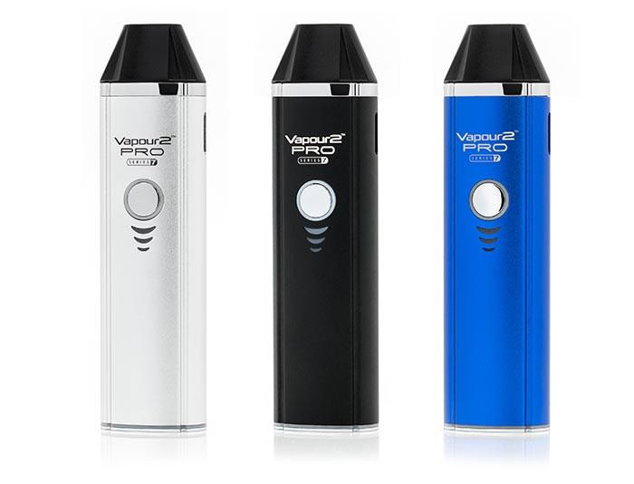 V2 dry herb , e liquid and tobacco vaporiser in silver black or blue