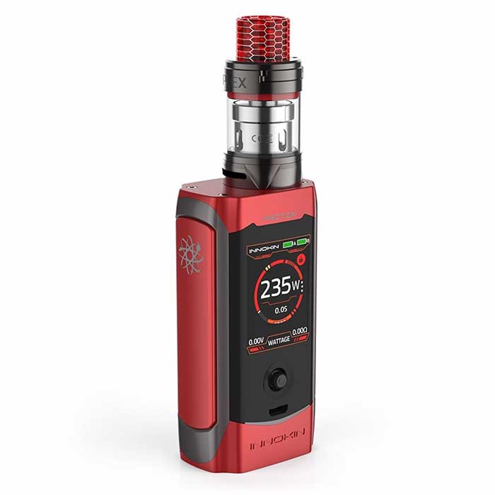 Innokin Proton Plex Red. Plex tank fitted