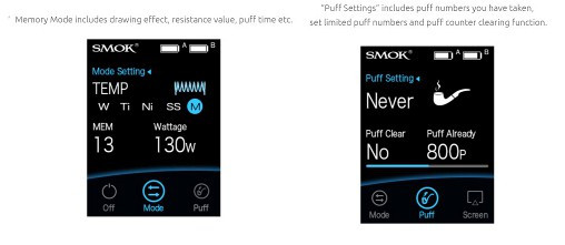 Smok X-Priv. Power and Temperature control mode features