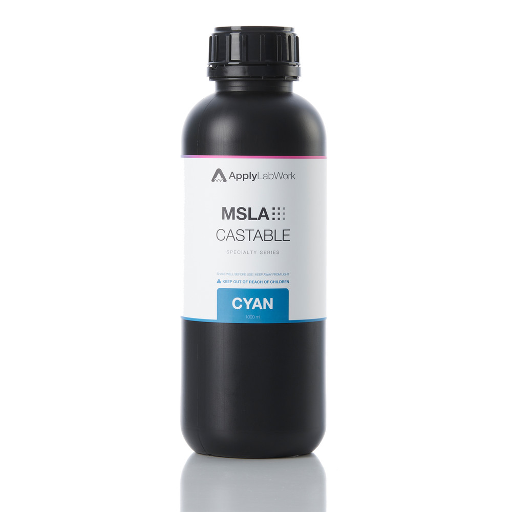 Specialty Series:  MSLA Castable Cyan, for LED/LCD Printers