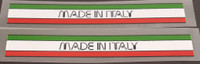 Made In Italy Decals - 1 Pair (Duoline font)