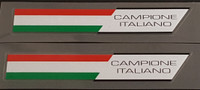"""Made in Italy """"Campione Italiano"""" Decals - 1 Pair"""