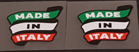 Made in Italy Banner Decals - 1 Pair