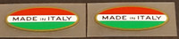 Made in Italy Decals - Oval (Red/Green) - 1 Pair