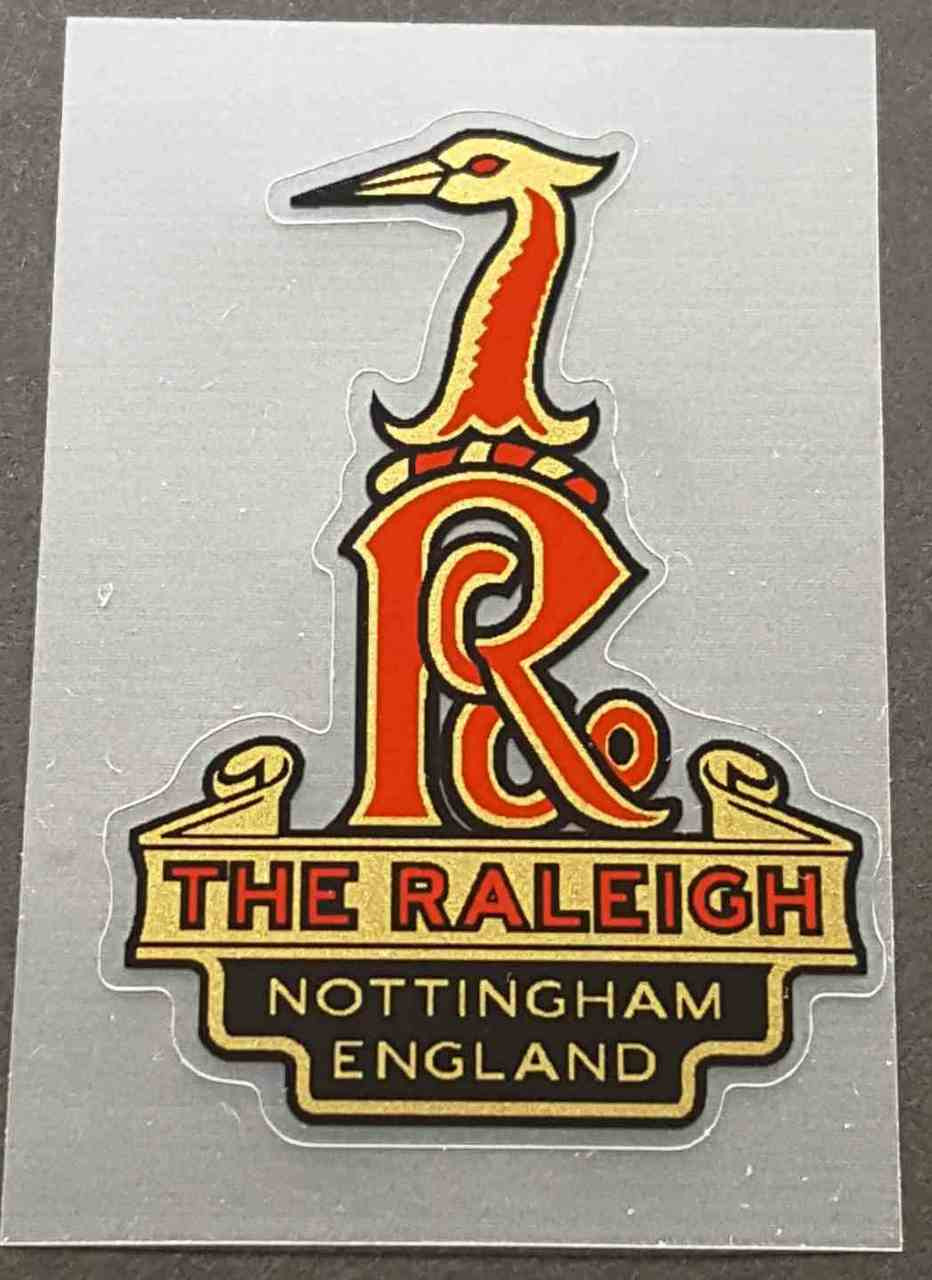 Raleigh Heron Nottingham Head Badge Decal Velocals