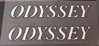 1992 Odyssey Top Tube Decals - 1 Pair White/Black