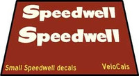 Speedwell Chain Stay Decal Set of 2 (sku 340)