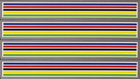 Eddy Merckx Colored Bands Decals - Set of 4