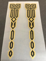Decorative Decals in Black with Gold or Silver Outline - 1 Pair