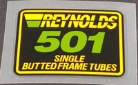 Reynolds 501 Single Butted Tubing Decal