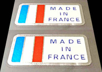 Made in France Decals - 1 Pair - Chrome