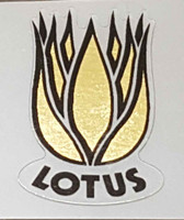 Lotus Bicycle Head Badge Decal - Mirror Gold