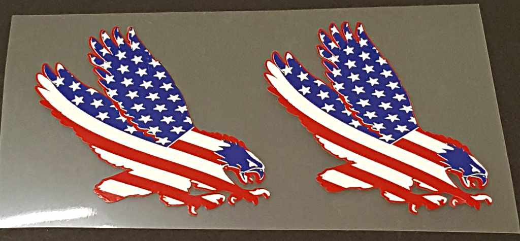 Usa Flag Eagle Decals 1 Pair Right Facing Velocals