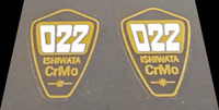 Ishiwata 022 Fork Decals - 1 Pair - Clear (large)