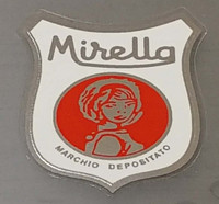 Mirella Bicycle Chrome Head Badge Decal
