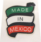 Made in Mexico Decal - Banner Type