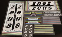 Zeus Bicycle Decal Set with True Chrome