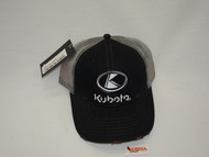 Kubota Black Front W/ Trucker Bill and Mesh Back | KT17A-H54