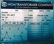 MGM AD374-U0123 500 Kva
