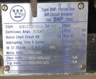 150-DHP-750C 3000 Amp Westinghouse 125 VDC