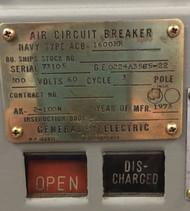 GE AK-2-100N Air Breaker, 1600 Amp, Navy Type