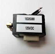 GE 15D2G080, 125VDC COIL