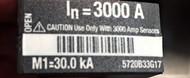 Eaton Cutler Hammer 5720B33G17, 3000AMP Rating Plug