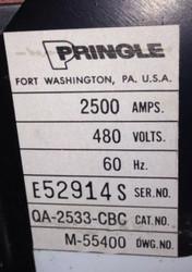 Pringle QA2533-CBC 2500 Amp W 120 VAC Shunt Trip 480 Volt, SKU 700