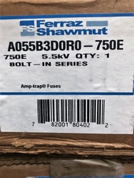 A055B3D0R0-750E 5.5KV 750E E Rated CS-3 Bolt-in Fuse Gould Shawmut Amp-Trap SKU 3