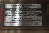 Square D Class 8110, Contactor DO-7 360 Amp EOK