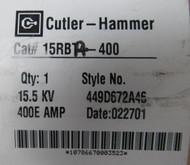 CUTLER HAMMER 15RBA4-400 400 AMP