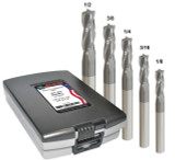 5 PC END MILL SET 3-FL CHBR TiAlN (1/8,3/16,1/4,3/8,1/2)