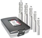 5 PC MED-P RGHR SET 4-FL UNCOATED (1/8,3/16,1/4,3/8,1/2)