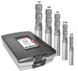 5 PC MED-P RGHR SET 4-FL AlTiN (1/8,3/16,1/4,3/8,1/2)