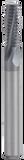 GORILLA MISSING LINK, CARBIDE THREADMILL, 3 FLUTE, M5x0.50, .154''DIA, 2X, .394''LOC, 45MM OAL, 4MM SHANK, GMX-35 COATED