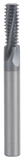 GORILLA MISSING LINK, CARBIDE THREADMILL, 3 FLUTE, M10x1.25, .303''DIA, 2X, .787''LOC, 63MM OAL, 8MM SHANK, GMX-35 COATED