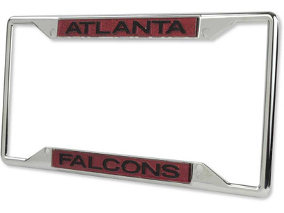 Atlanta Falcons Metal License Plate Frame with Glitter Design