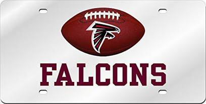 Atlanta Falcons Inlaid Acrylic License Plate with Domed Logo