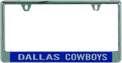 Dallas Cowboys Metal License Plate Frame with Glitter Design