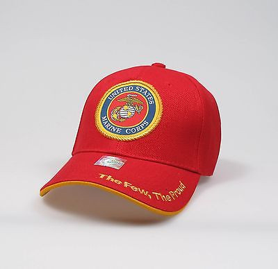 "U.S.Marines Adjustable ""One Size Fits Most"" Hat - Red"