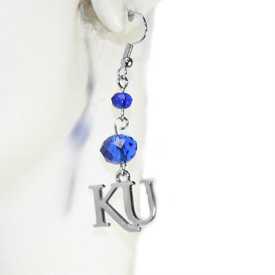 Kansas Jayhawks Beaded Earrings - ER4640230 - NCAA Licensed
