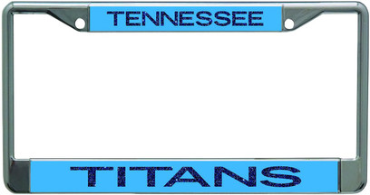 Tennessee Titans Metal License Plate Frame with Glitter Design