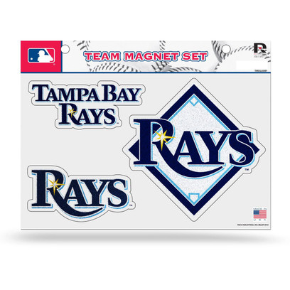 MLB Tampa Bay Rays Bling Team Magnet Set with Team Logos