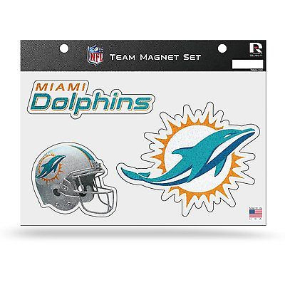 NFL Miami Dolphins Bling Team Magnet Set