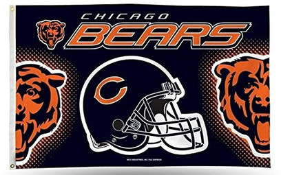 Chicago Bears 3-foot by 5-foot Helmet Banner Flag